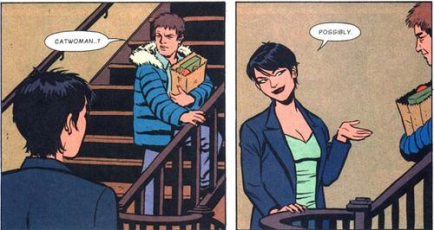 Selina and Captain Cold.
