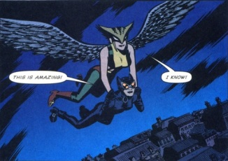 Hawkgirl and Catwoman