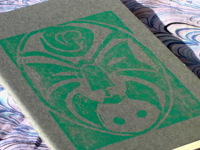 snake venom notebook green on gray 1
