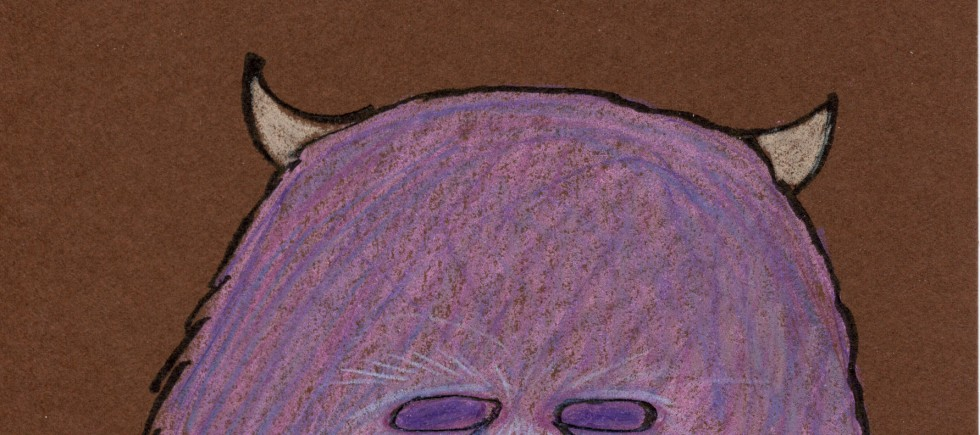 2014 pink and purple furry monster cropped