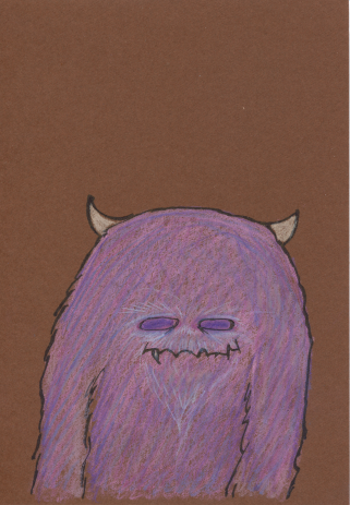 2014 pink and purple furry monster
