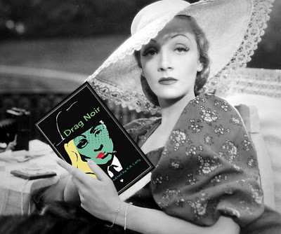 marlene dietrich reading drag noir