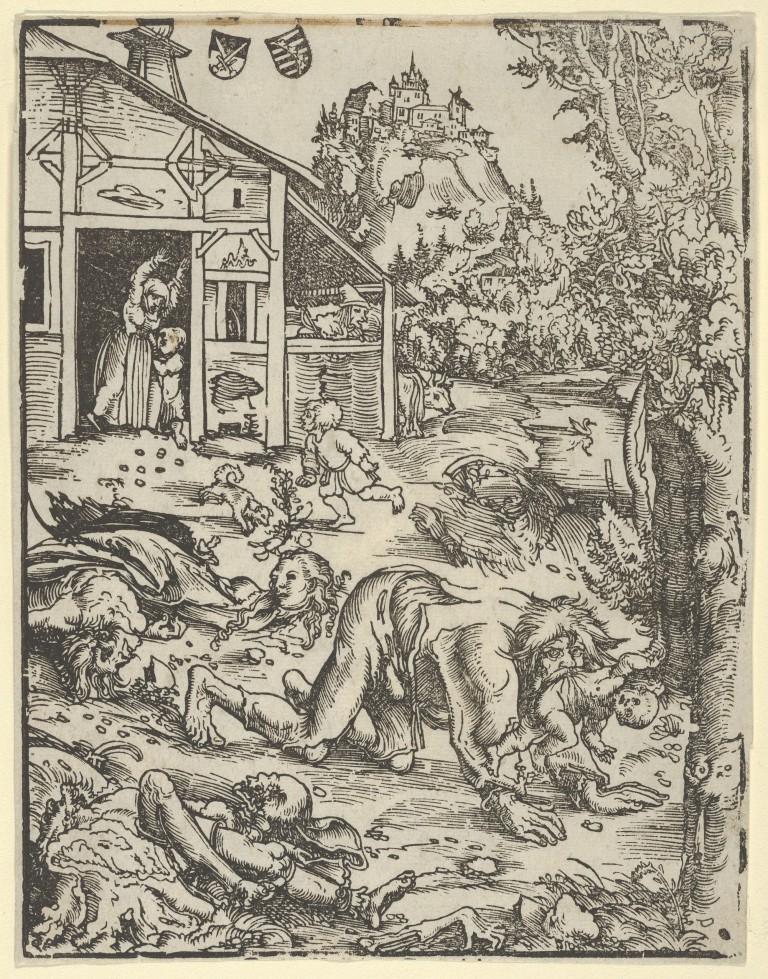 "Lucas Cranach the Elder, ""The Werewolf or the Cannibal"""